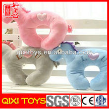 High quality cute horse U shape neck pillow
