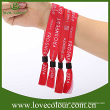 Personalisierte gewebte Armbänder Stoff Armbänder für Veranstaltung