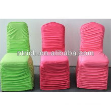 Elastic lycra pleated chair cover for wedding