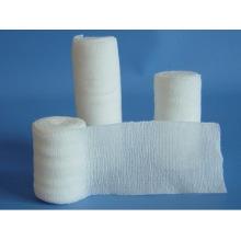 Vendajes de algodón elástico de tejido liso blanco médico al por mayor