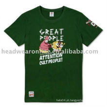 Camisas de algodão t com serigrafia