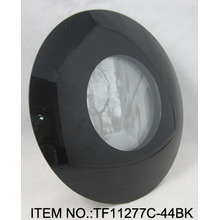 Simple negro curvado portaretrato de vidrio