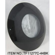 Einfache schwarze geschwungene Glas Fotorahmen