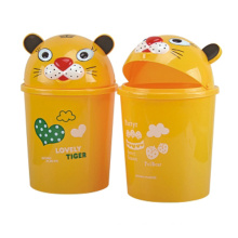 Yellow Cute Flip-on Plastic Dust Bin (A11-4013)
