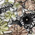Multicolor Rayon Yarn Embroidery On Poplin Fabric
