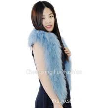 Asli Rainbow Tibetan Sheep Fur Scarf- Plus Size