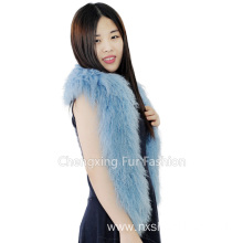 Genuine Rainbow Tibetan Sheep Fur Scarf- Plus Size