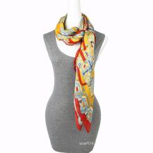 Мода печати шифон шарф упаковки квадратных шарф