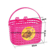 Colourful Plastic Bike Basket for Kids Bicycle (HBK-137)