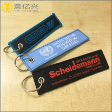 Benutzerdefinierte Branded Name Logo Printed Stickerei Keychain