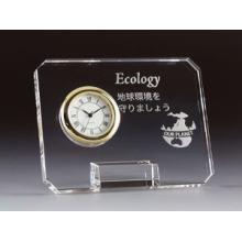 Relógio de mesa inteligente de cristal decorativo