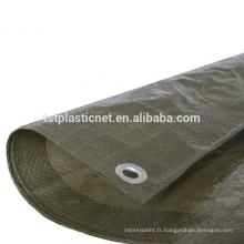 Couverture verte de protection d'équipement de meubles de jardin de feuille de bâche de 8x 6ft