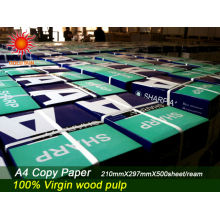 a4 tamanho 100% polpa de madeira papel de cópia preço barato