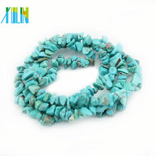 Factory Sale Semi Precious Natural Turquoise Gemstone Chip Stone Beads