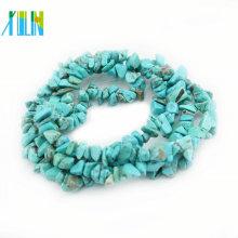 Grânulos naturais semi preciosos da pedra da microplaqueta de pedra preciosa de turquesa da venda da fábrica