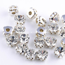 Crystal Sew-on Stones Plated Silver