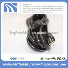 US Plug 3Prong C13 Power Cable for PC