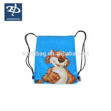 Benutzerdefinierte Großhandel Kordelzug Polyester Tasche Günstige Sport Rucksack