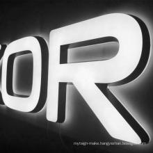 Customized advertising led signage outdoor backlit frontlit acrylic led illuminate letter signage logo