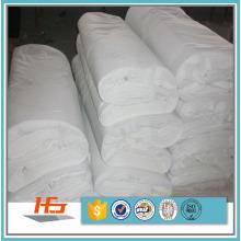 T / C 50/50 tela de lino de cama del llano blanco de Polycotton para el lecho