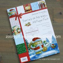 Christmas Characters A4 Paper Pack Santa′s Scrapbook Paper Kits