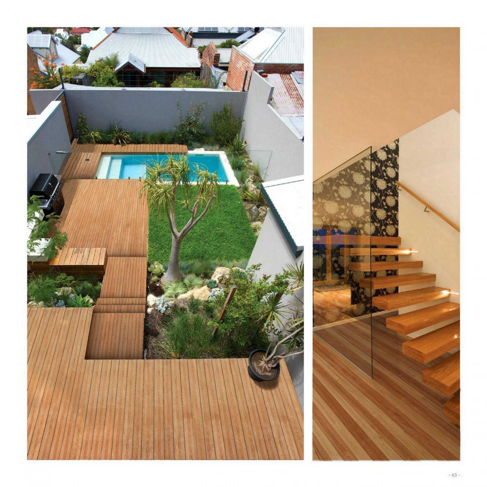 Papan decking outdoor berongga