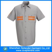 China-Hemd-Lieferanten-Sommer-Hemden der kundenspezifischen Männer