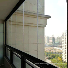 Frameless Glass Curtain Full Open Window