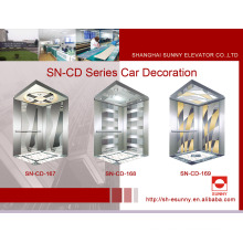 Cabina del elevador con el panel del espejo (SN-CD-167)