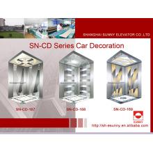 Cabine d'ascenseur avec panneau de miroir (SN-CD-167)