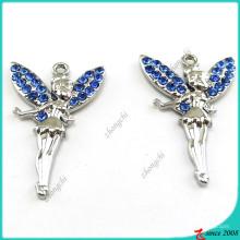 Blue Crystal Angel Colgante de joyería para accesorios de moda (MPE)