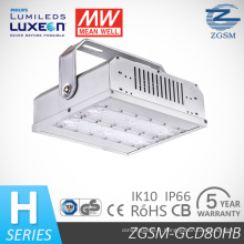 80W IP66 & Ik10 aluminium alliage LED Light Bay avec fonction de gradation 1-10V