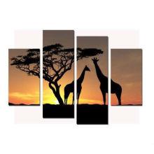 Moder Gruppe Sonnenuntergang Landschaft Leinwand Malerei Für Wohnkultur