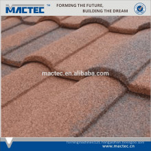Nigeria Hot Sale Villa natural stone coated metal roof tile machine nigeria hot sale