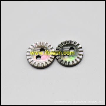 Botón negro madre de perla Shell para mujer camiseta