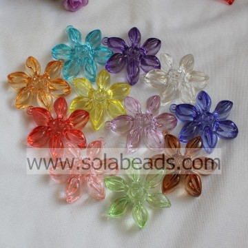 Caldo 57 MM plastica fiore perline
