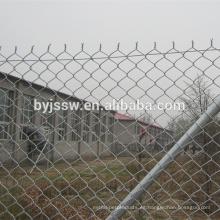 Valla de enlace de cadena revestida de vinilo negro / Valla de cadena de plástico