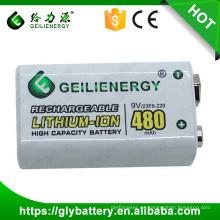 Geilienergy 9V 480mAH paquete de batería recargable de iones de litio para RC Toy