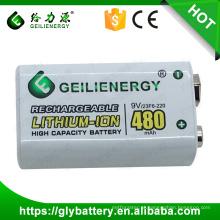 Bloco recarregável da bateria de Lithium-ion de Geilienergy 9V 480mAH para o brinquedo de RC