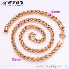62349-Xuping Hot vente élégant faux bijoux en or collier et bracelet ensemble
