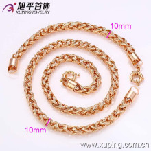 62349-Xuping горячая продажа стильный поддельные золотые ювелирные изделия ожерелье и браслет комплект