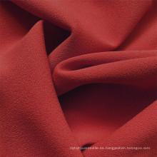 Tela de jersey de poliéster spandex de seda de leche rojo oscuro