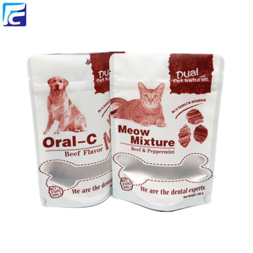 Custom printing foil dog treat pet food bag