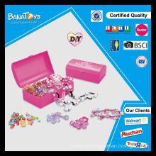 Jogo diy novo do brinquedo da menina com o grânulo plástico da caixa do pdq
