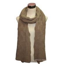 Lady Fashion Acrylic Long Knit Scarf (YKY4327)
