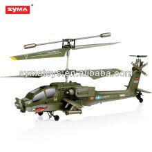 SYMA S109G Apache simulaor 3.5 ch rc volar sharkapache ah-64 rc helicóptero