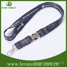 Factory cheap custom leather lanyard no minimum order