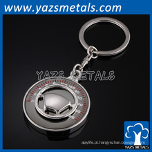 chaveiro personalizado da forma do metal do costume