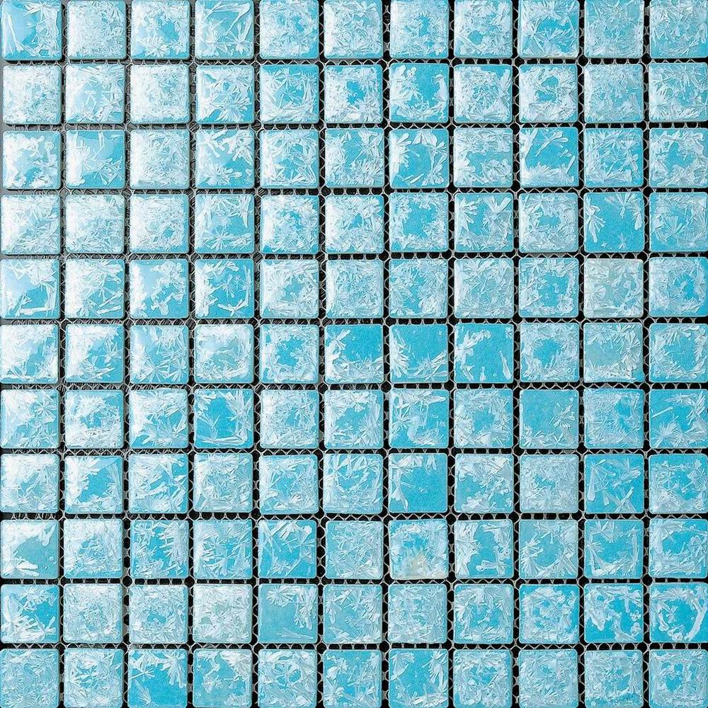 Light Blue Glazed Ceramic Mosaic Tile