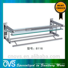 foshan bathroom decorative glass wall shelf 8116